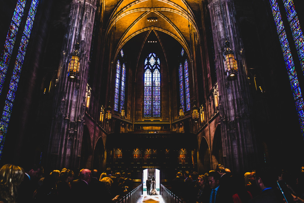 Wedding Photos at Heinz Chapel in Oakland, Pittsburgh