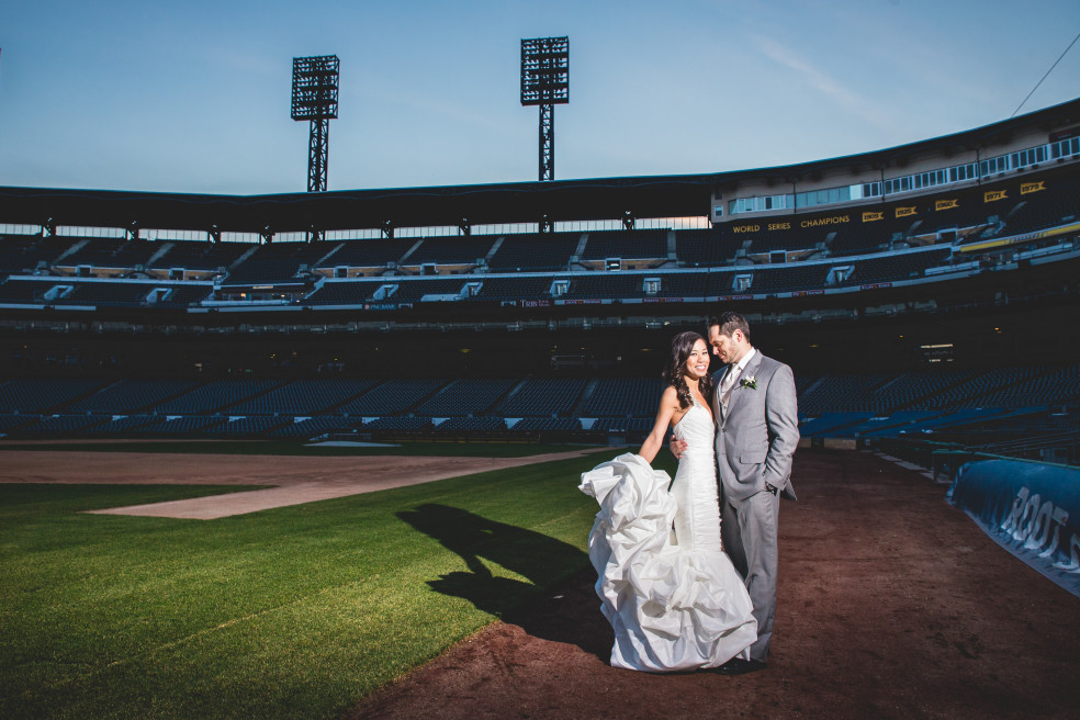 Wedding Photos at PNC Park and Lexus Club