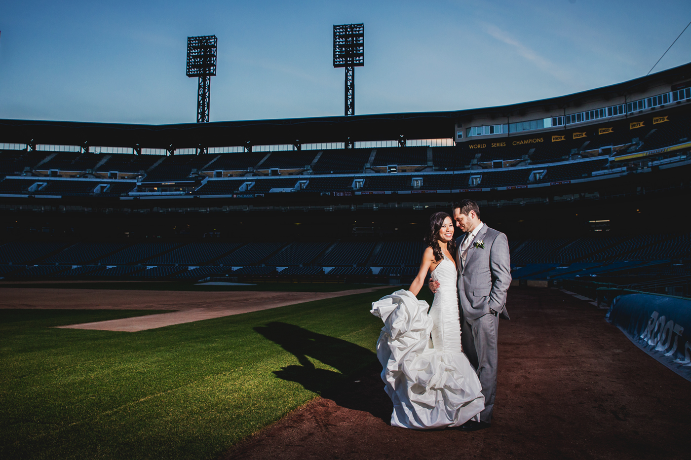 PNC Park in downtown Pittsburgh, PA – Man Nguyen Photography – a Pittsburgh wedding photographer.