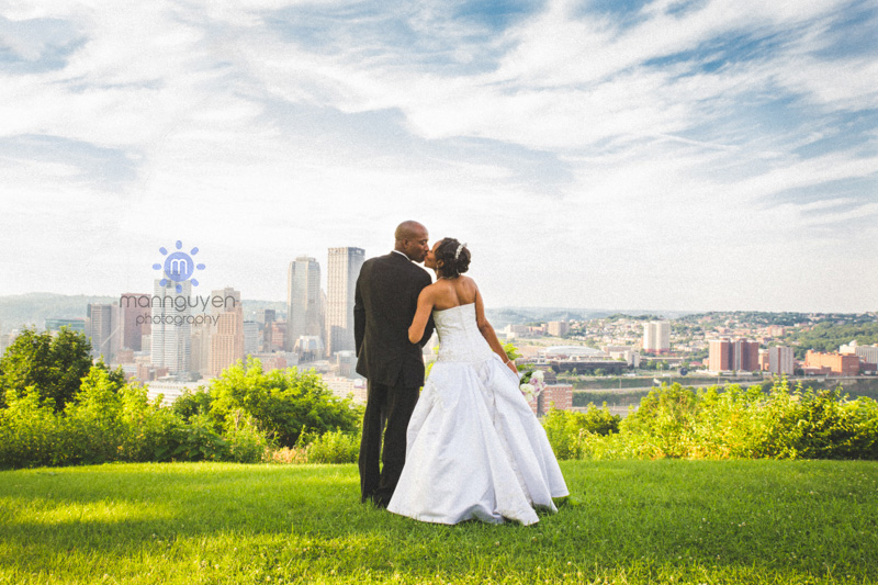 Wedding portrait at Grandview Park in Pittsburgh, PA